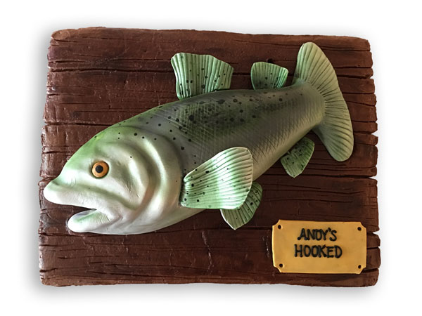 The Blue Owl Bakery Custom Cake Fish