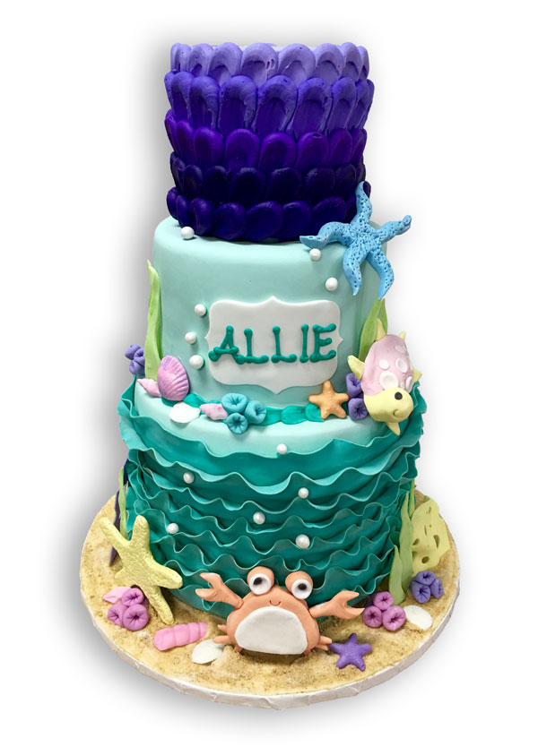 The Blue Owl Bakery Custom Cake Under the Sea Theme Birthday