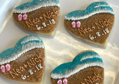 BeachWeddingDecoratedButterCookies