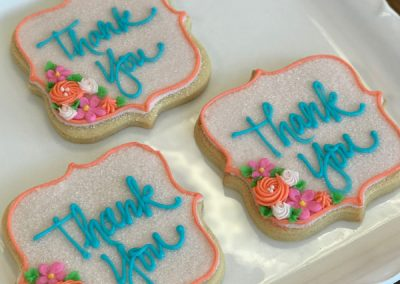 ThankYouFloralDecoratedButterCookies